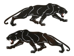 "Aufkleber ""Black Panther"" (105x40 mm)"