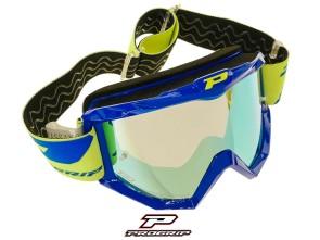 ProGrip Brille MX 3201 Raceline blau verspiegelt