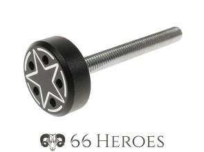 Schraube Seitenschutz 45 mm Alu schwarz Star