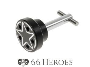 Bolzen Seitenschutz 25 mm Alu schwarz Piaggio Star