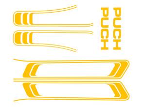 Klebersatz Puch Maxi gelb