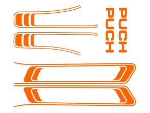 Puch Maxi Aufkleber Set orange (1A Qual.)