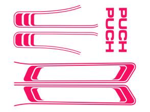 Puch Maxi Aufkleber Set pink (1A Qual.)