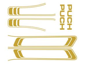 Klebersatz Puch Maxi gold