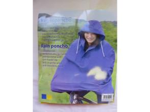 Regenmantel blau