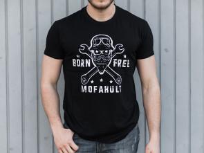 "T-Shirt ""Born Free"" schwarz"
