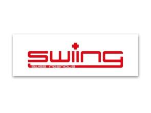 """""""swiing"""" Kleber weiss (105x35 mm)"""