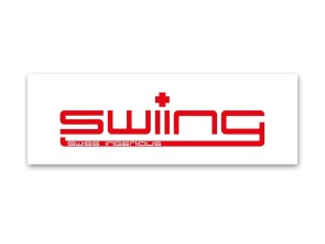 """swiing"" Kleber transparent (105x35 mm)"
