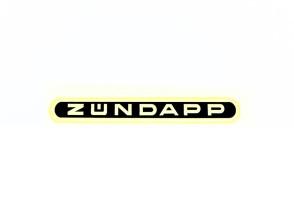 """""""Zündapp"""" Wasserabziehbild schwarz"""