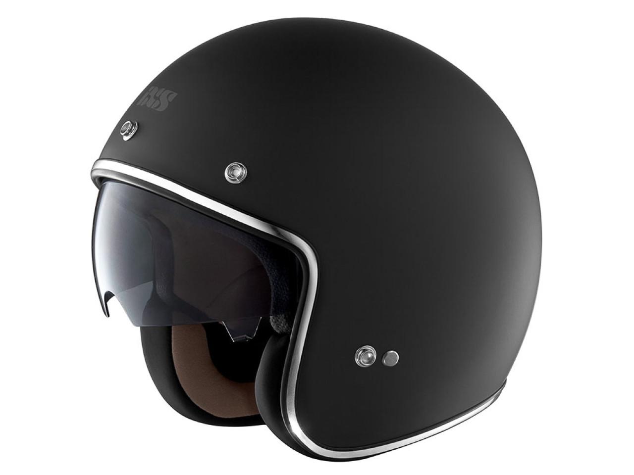 jethelm standard mit visier matt schwarz helm brille. Black Bedroom Furniture Sets. Home Design Ideas
