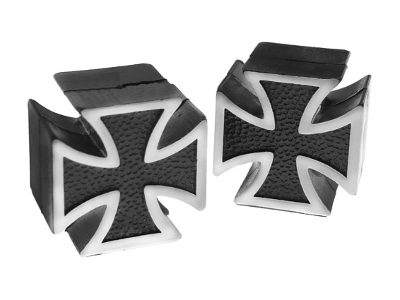 Ventilkappen Iron Cross schwarz