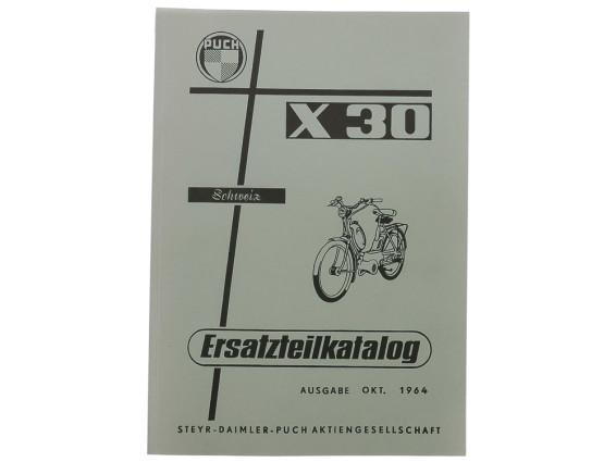 Ersatzteilkatalog Puch X30 ST, L, LA Velux (CH)
