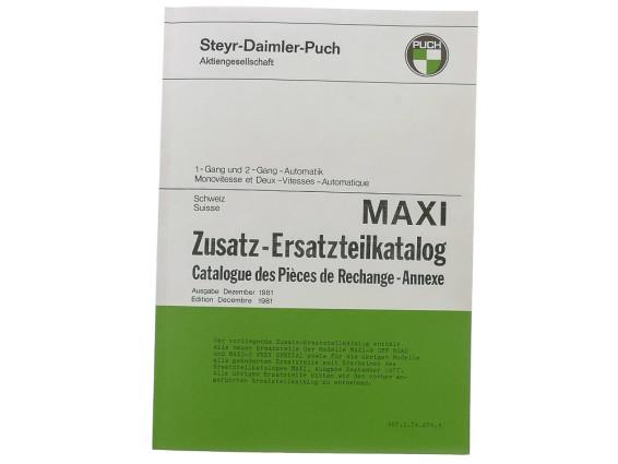 Zusatzersatzteilkatalog Maxi (CH)