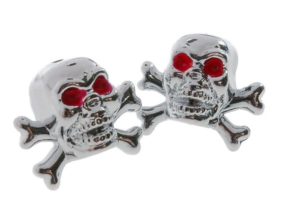 Ventilkappen Skull chrom