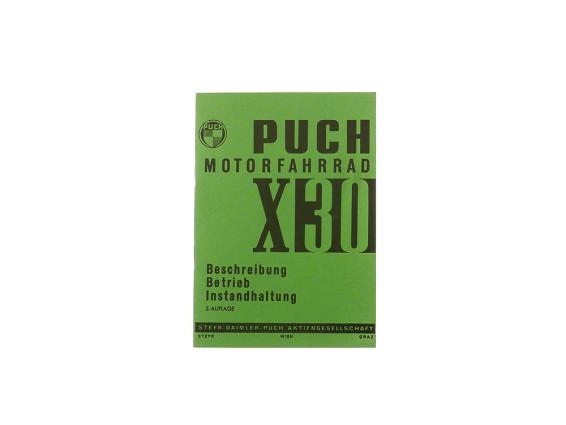 Betriebsanleitung Puch X30 Velux 3.Auflage
