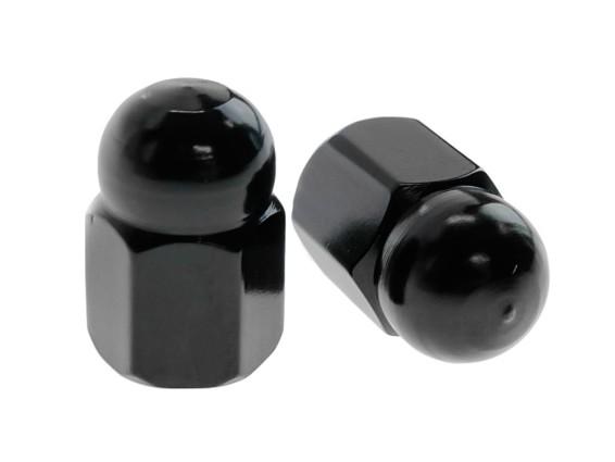 Ventilkappen Hutmutter schwarz