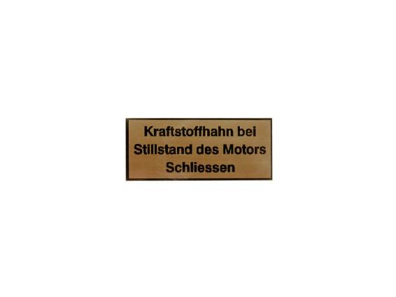 """""""Kraftstoffhahn schliessen"""" Kleber Belmondo"""
