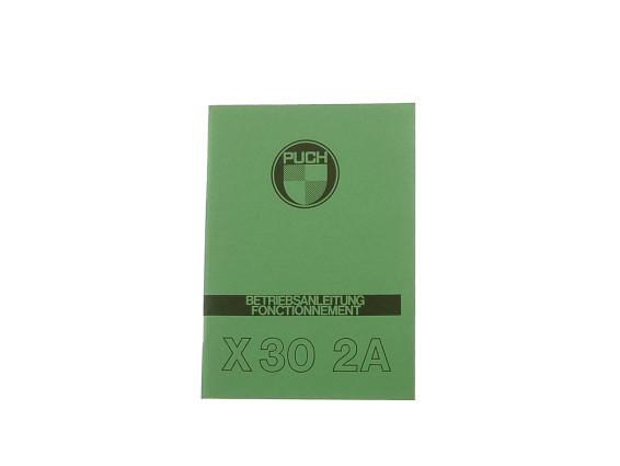 Betriebsanleitung Puch X30 NG-2A (2-Gang Automatik)