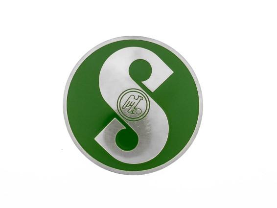 Sachs Emblem grün (geätztes Blech)