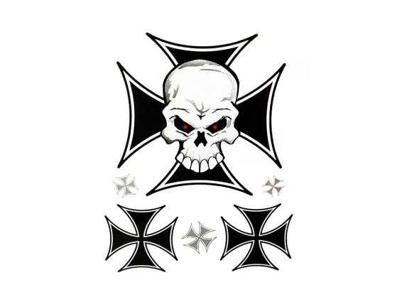 Iron Cross Skull Kleberbogen