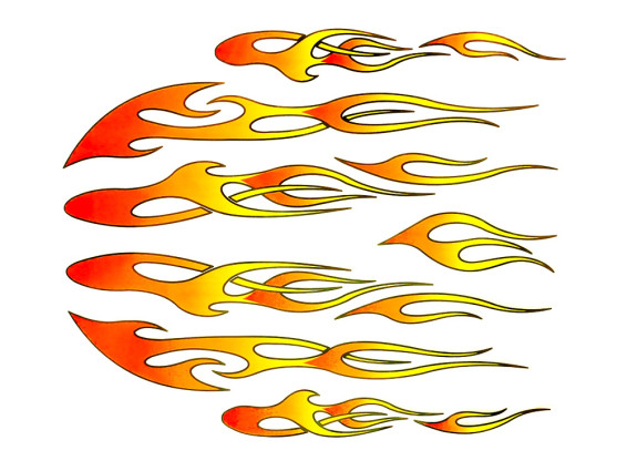"Aufkleberbogen ""Flame"" (20x24 cm)"