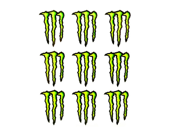 "9 Stk. Werbekleber ""Monster Energy"""