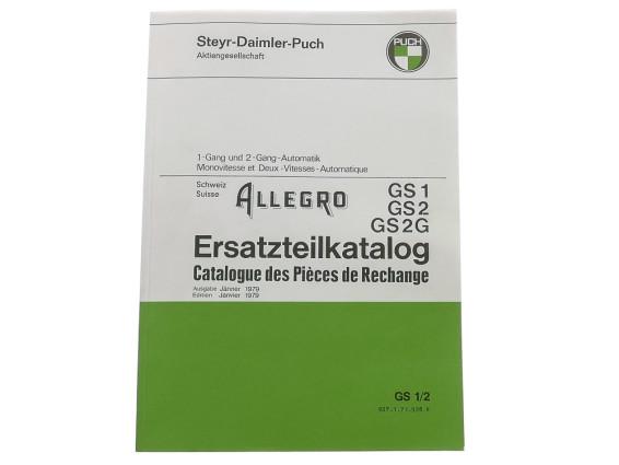 Ersatzteilkatalog Puch Allegro GS1, GS2, GS2G