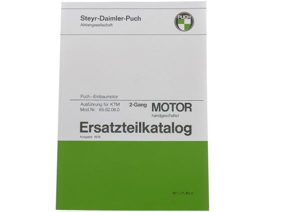 Ersatzteilkatalog Puch 2-Gang Z50 Motor (KTM)