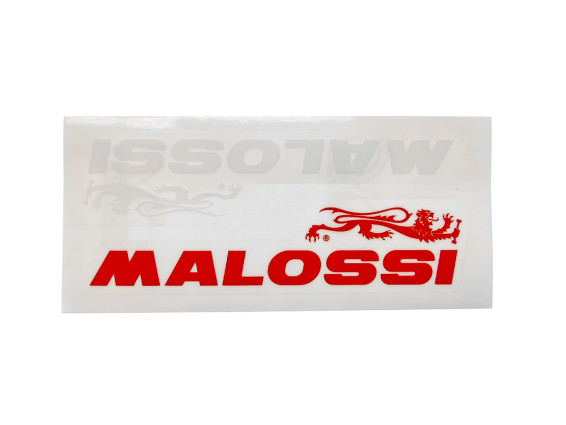 """Malossi"" Kleber rot / weiss 220 x 55 mm"