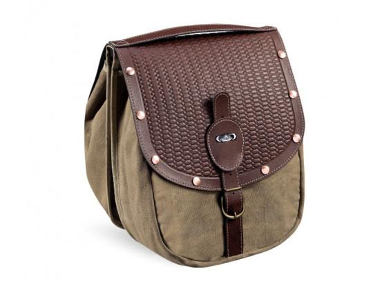 Gepäcktasche Textil Oldschool braun
