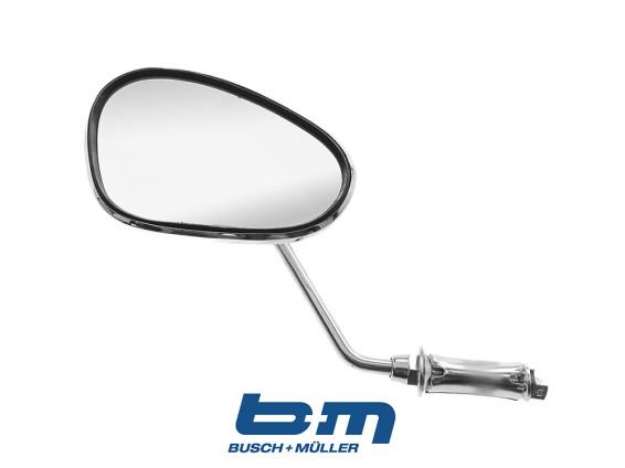 Spiegel oval BUMM Chrom links Steckvariante