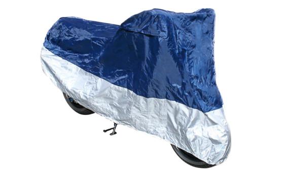 Abdeckplane Polyester blau/silber Grösse L