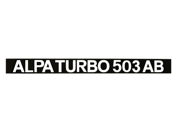 Alpa Turbo 503 AB Aufkleber Seitenverkleidung 280 x 25 mm