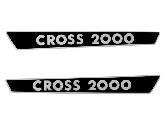 Cross 2000 Aufkleber Seitenverkleidungen 340 x 35 mm