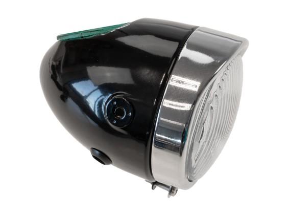 Eierlampe Ø 103 mm schwarz (seitliche Bef.)