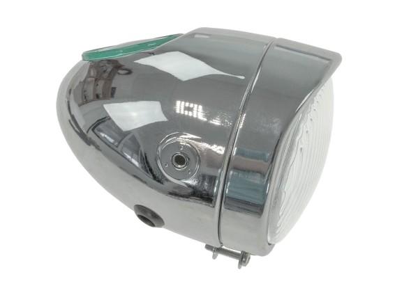 Eierlampe Ø 103 mm (seitliche Bef.) Chrom