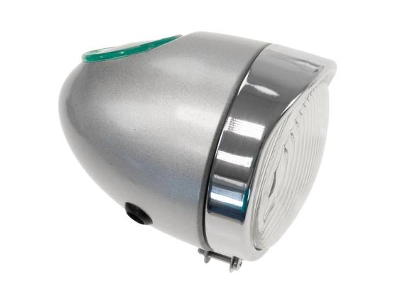 Eierlampe Ø 103 mm silber (mittige Bef.) Oldie