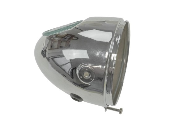 Lampentopf Eierlampe Ø 103 mm (seitliche Bef.) Chrom