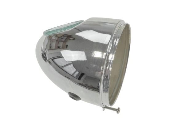 Lampentopf Eierlampe Ø103 mm chrom (mittige Bef.)