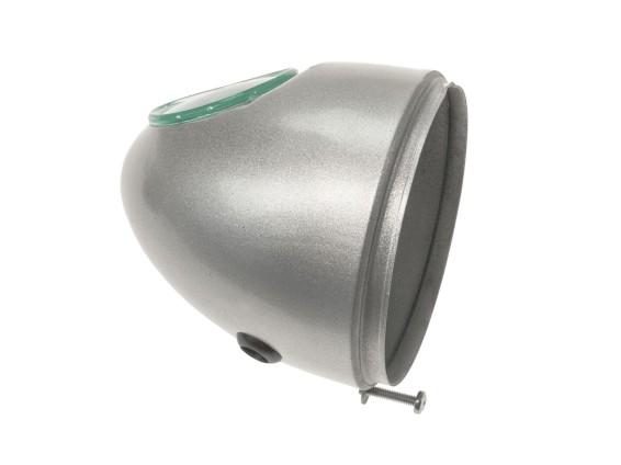 Lampentopf Eierlampe Ø103 mm silber (mittige Bef.)