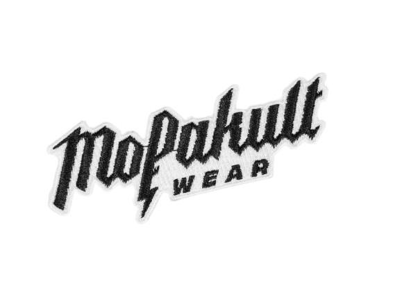 Patch «Mofakultwear» schwarz / weiss 95 x 30 mm