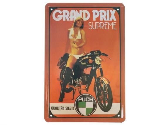 Blechschild Puch «Grand Prix Supreme» 20 x 30 cm