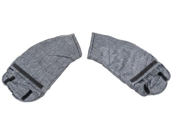 Handschutz gefüttert grau lang