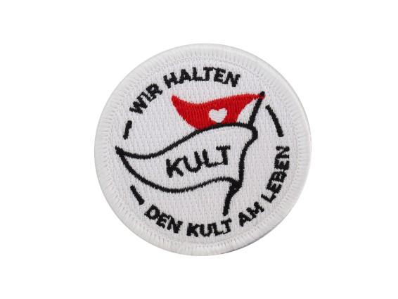 Patch «Wir halten den Kult am Leben» Ø 60 mm