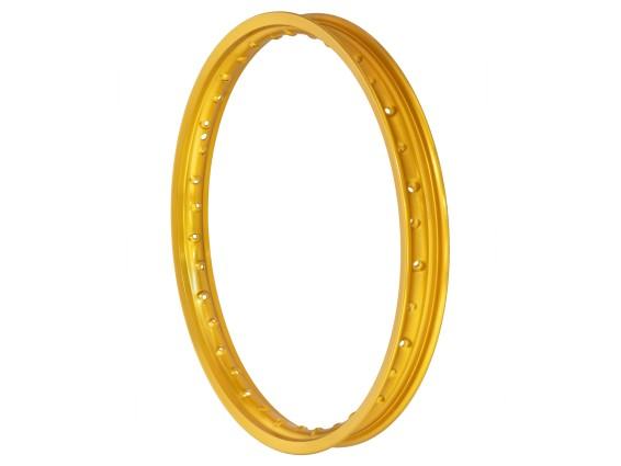 "Felgenring 1.40 x 17"" gold eloxiert (49 mm breit)"