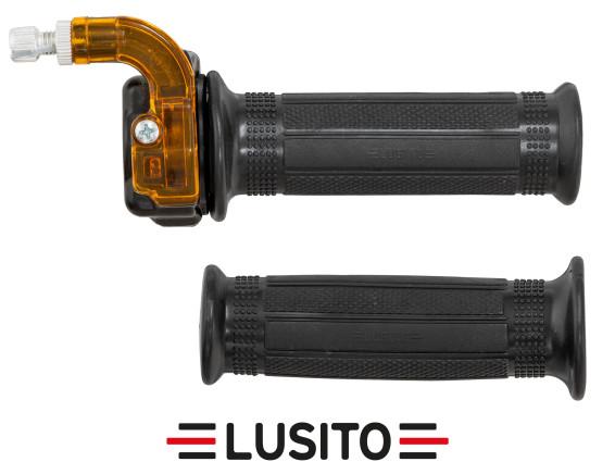 Lusito Gasdrehgriff Alu schwarz / orange