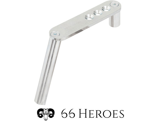 66Heroes Sattelrohr Ø 22 mm (Winkel / Sitzposition verstellbar)
