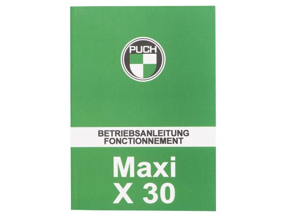 Betriebsanleitung Maxi / X30
