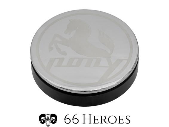 66Heroes Tachoblende Ø 48 mm Chrom   Pony