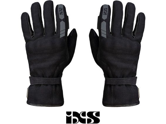 IXS Motorradhandschuh Leder Textil schwarz (S - XL)